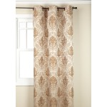 Beige Colored Olympia Jacquard Grommet Panel