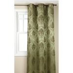 Green Colored Olympia Jacquard Grommet Panel