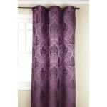 Purple Colored Olympia Jacquard Grommet Panel