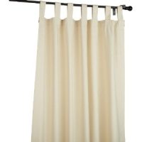 Natural Fireside Tab Top Drapes