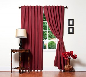 Best Home Fashion Burgundy Pinstripe Curtain