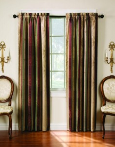 Arlee's Tuscan Stripe Thermal Backed Curtain